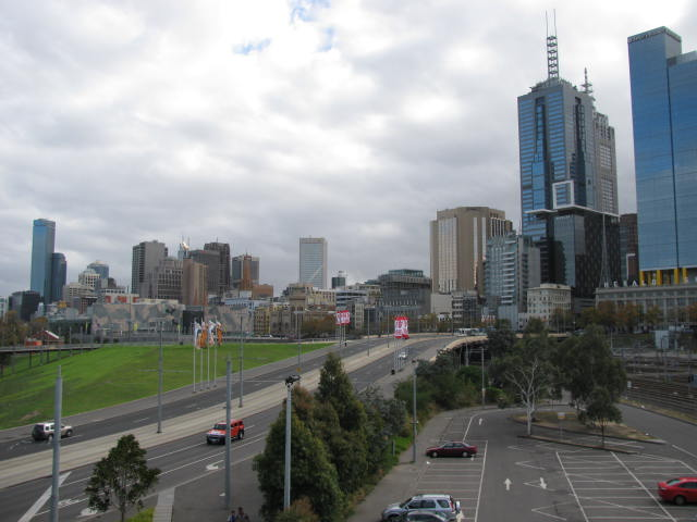 Melbourne on the way to the game