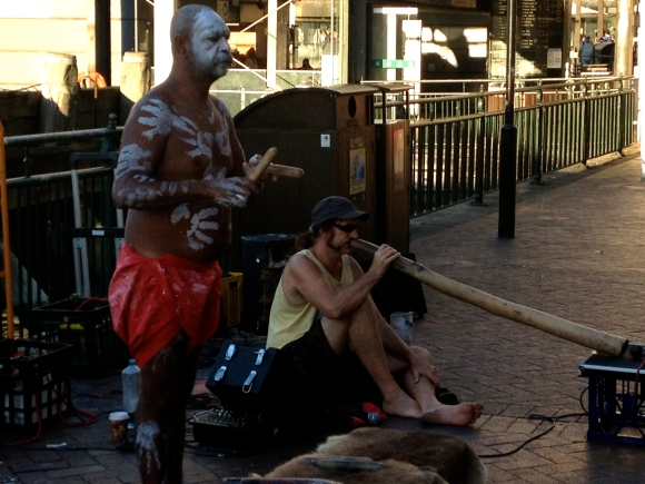 Interesting Aborigines Sidewalk entertainment