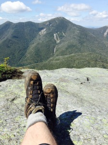 Relaxing on Mt. Colden