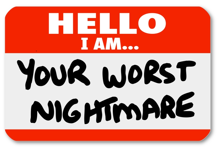 Hello I am Your Worst Nightmare Nametag Sticker